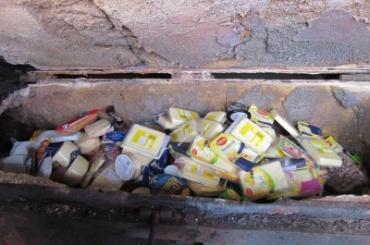 Более 130 кг продуктов из Евросоюза сожгли в Петербурге