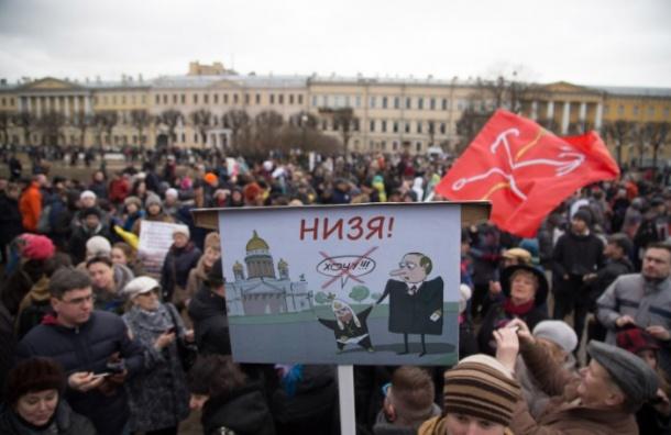 Оппозиция обсуждает общую колонну в защиту Петербурга на Первомай