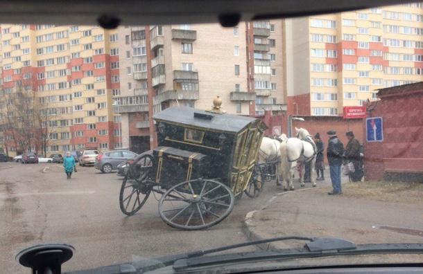 Карета на проспекте Маршала Жукова осталась без колеса
