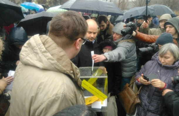 Петербургского оппозиционера Пивоварова оштрафовали занесанкционированную акцию 29апреля