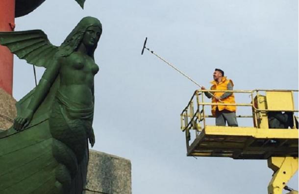 Шнуров помыл Петербург ради туристов