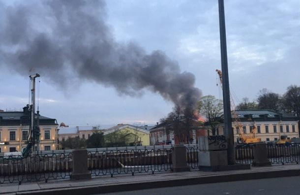 Пожар произошел на одном из объектов на набережной Фонтанки
