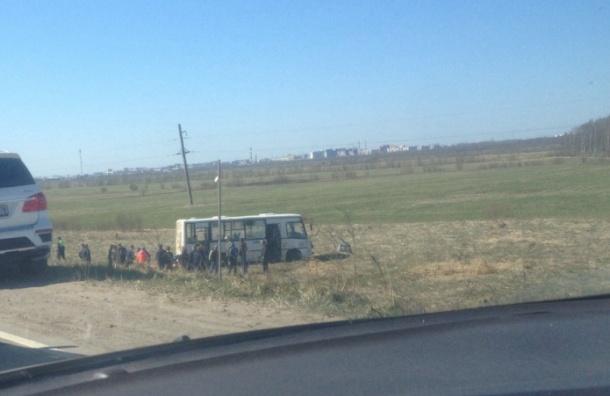 Автобус улетел в кювет у Красного Бора, есть пострадавшие