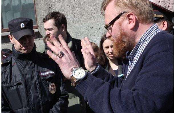 Полиция не накажет Милонова за дебош на Первомае