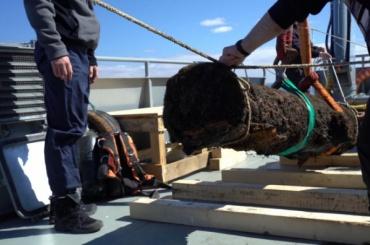 Загадочную пушку XVIII века подняли содна Финского залива