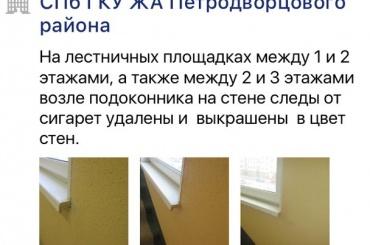 Петербургские коммунальщики «закрасили» фотошопом испачканную стену дома