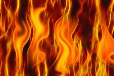 Дом сгорел в Парголово