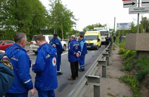 «Пазик» врезался в грузовик на Приморском шоссе, есть пострадавшие