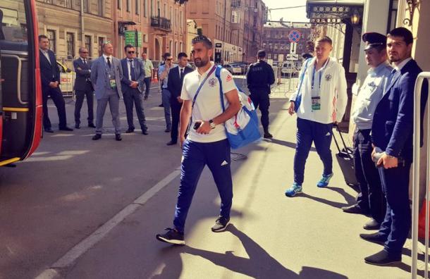 Сборные России и Новой Зеландии прибыли на стадион «Санкт-Петербург»