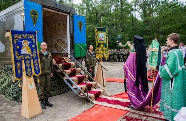 Первую передвижную часовню освятили вБелоруссии