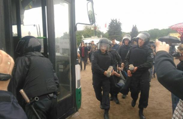 Задержанных на Марсовом поле доставили в Петергоф, Ломоносов и Колпино