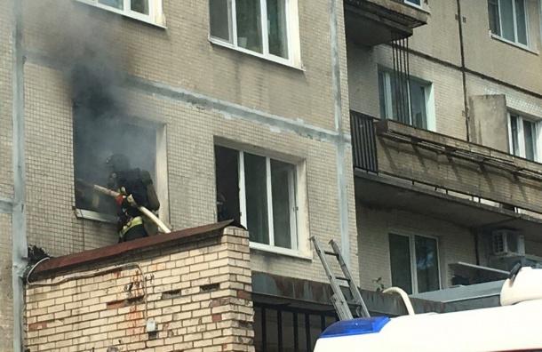Сгорела квартира на проспекте Культуры