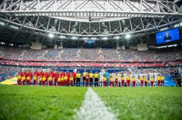 Юные петербуржцы вышли на первый матч Кубка конфедераций