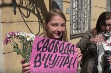 Задержанную наакции протеста сотрудницу «Собаки» выпустили