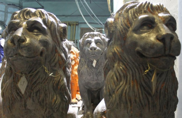 «Протез» нашли у одного из львов дачи Кушелева-Безбородко