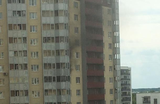 Пожарные тушили квартиру в доме на Шуваловском проспекте