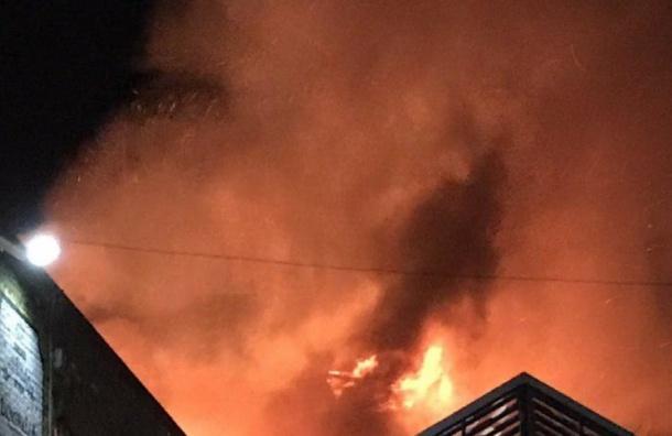 Семь человек погибли при пожаре на производстве плитки в Колпино