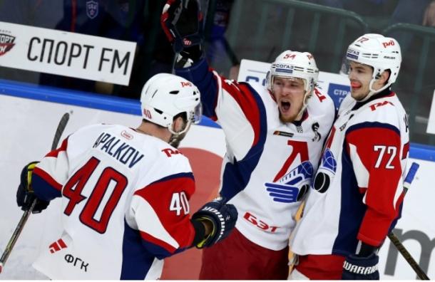 Дубль Плотникова принес СКА победу над «Локомотивом»