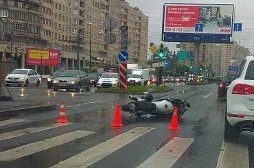 Мотоциклист разбился в Купчино