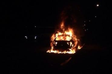 Иномарка сгорела вКрасногвардейском районе