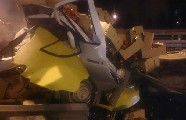 Водителя «Газели» раздавило собственным грузом в ДТП на Софийской улице