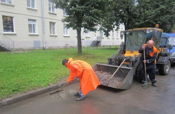 Спетербургских улиц собрали неменее 3 тыс. тонн грязи занеделю