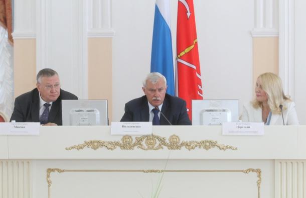 Полтавченко: вывески и рекламные конструкции должны соответствовать эстетике Петербурга