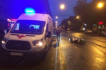 Мотоциклист сломал руку в аварии у станции «Выборгская»
