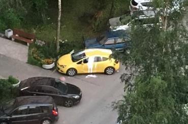 Opel на Ленинском проспекте облили краской