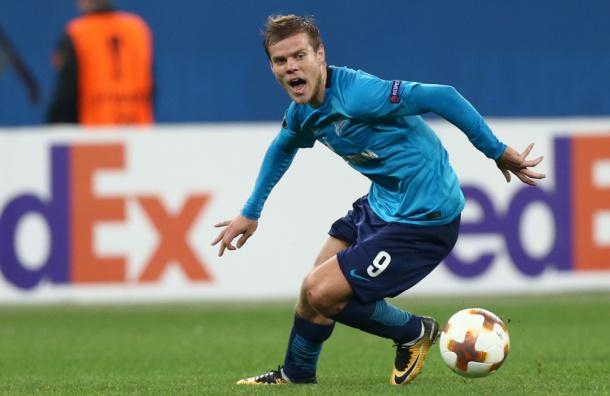 Нападающий «Зенита» Кокорин претендует на звание игрока недели в Лиге Европы