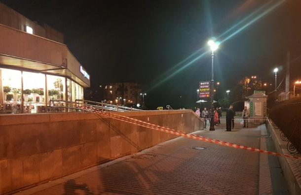 Станция «Черная речка» закрыта на вход и выход