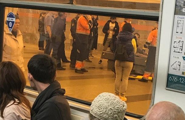 Упавшая на«Ладожской» пассажирка отправилась впсихбольницу