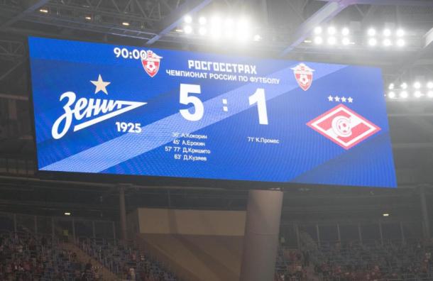 «Спартак» оштрафовали завред стадиону наКрестовском