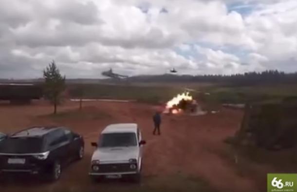 СМИ: наполигоне вЛенобласти вертолет случайно выпустил ракету влюдей