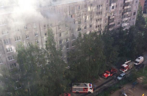 Пожар вспыхнул в доме на улице Антонова-Овсеенко
