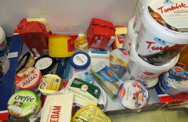 Более тонны европейских продуктов изъяли у российских туристов на границе с Финляндией
