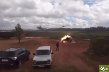 СМИ: зрителей на учениях «Запад-2017» случайно обстрелял вертолет