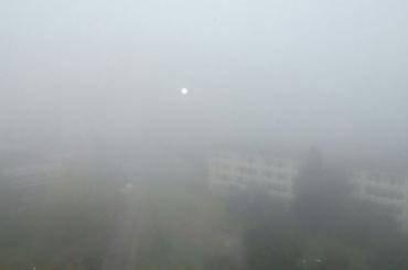 Туман опустился на южные районы Петербурга