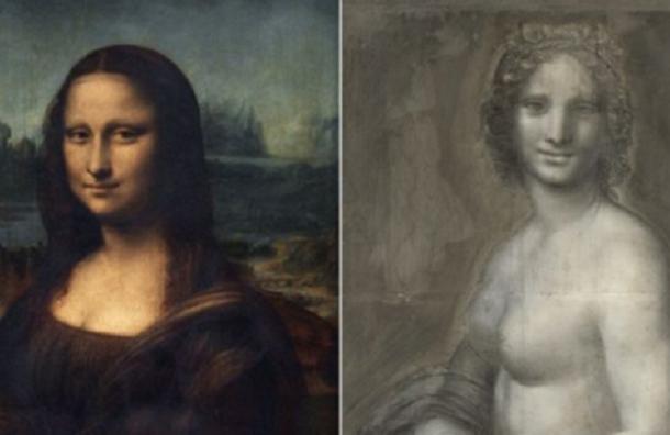 Эскиз «обнаженной Моны Лизы» нашли во Франции