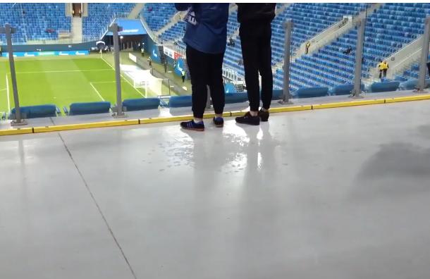 Крыша стадиона наКрестовском невыдержала проливного дождя