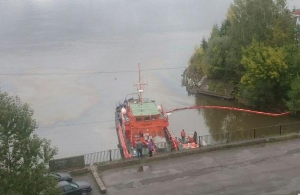 Очевидцы заметили огромные маслянистые пятна в Неве
