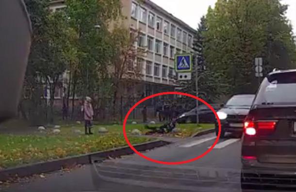 Гимназиста сбили на зебре на улице Орбели