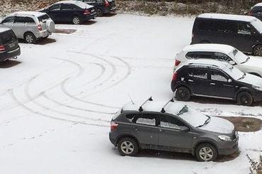 Первый снег заметили в Петербурге