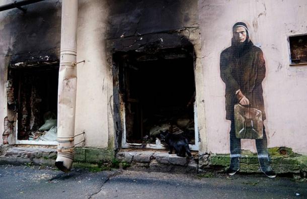 Граффити сПавленским появилось вПетербурге