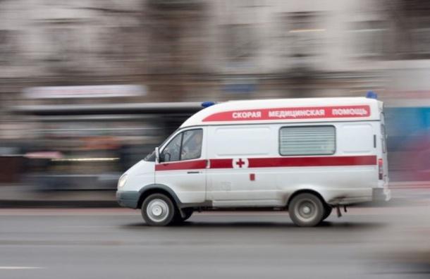 Иностранная машина  сбила 2-х  пешеходов наПарашютной улице вПетербурге