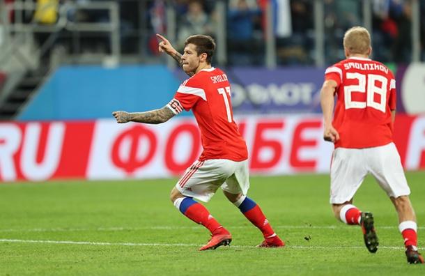 Сборная России сыграла вничью сИспанией— 3:3