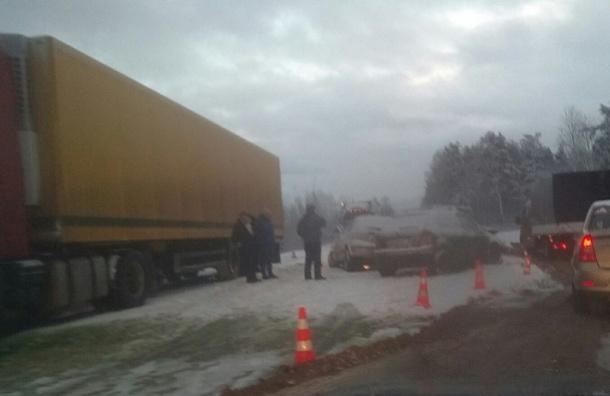 Тройное ДТП с грузовым автомобилем вЛенобласти забрало жизнь женщины