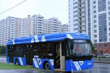 Электробус запустили вПетербурге
