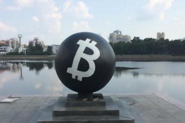 Новый арт-объект объект, посвященный биткоинам, появился вПетербурге