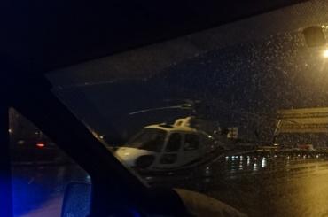 Пострадавшую наКАД забрал вертолет